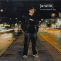 Anom ‎– So It's Come To This... CD