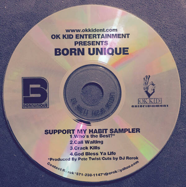 Born Unique ‎– Support My Habit CD