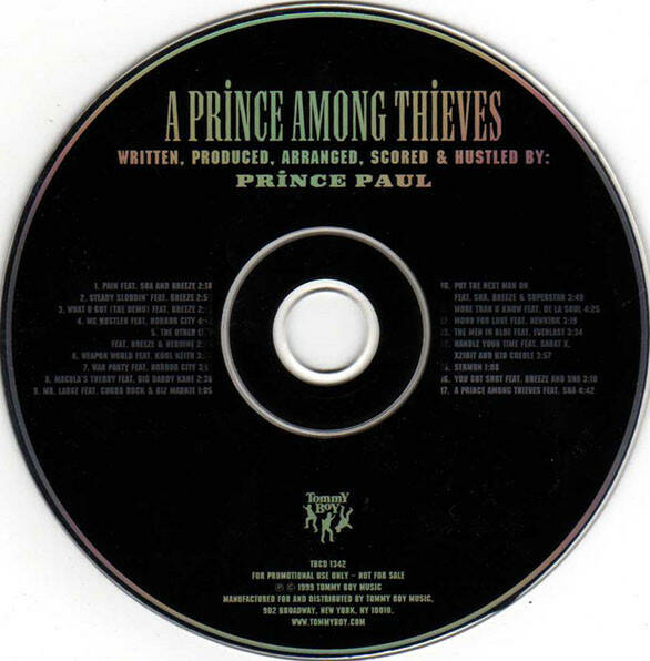 Prince Paul ‎– A Prince Among Thieves (Edited) CD