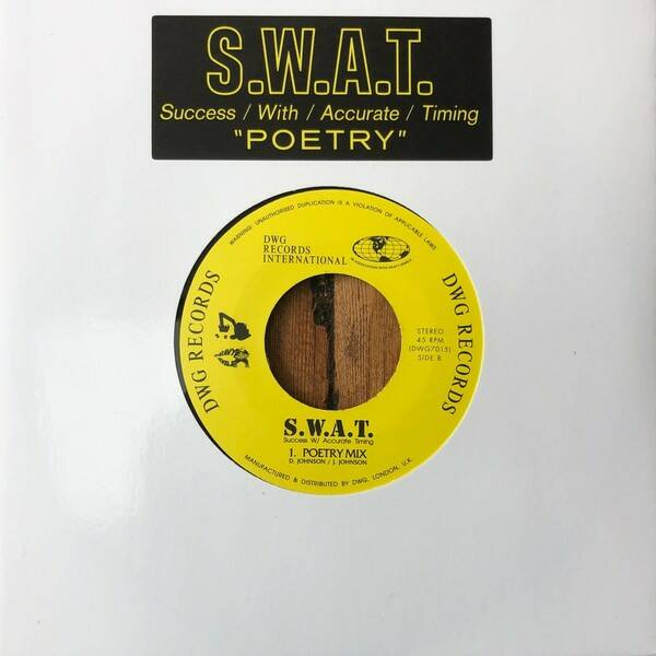 S.W.A.T. ‎– Poetry  7""