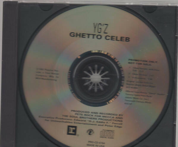 YG'Z ‎– Ghetto Celeb (Promo) CD