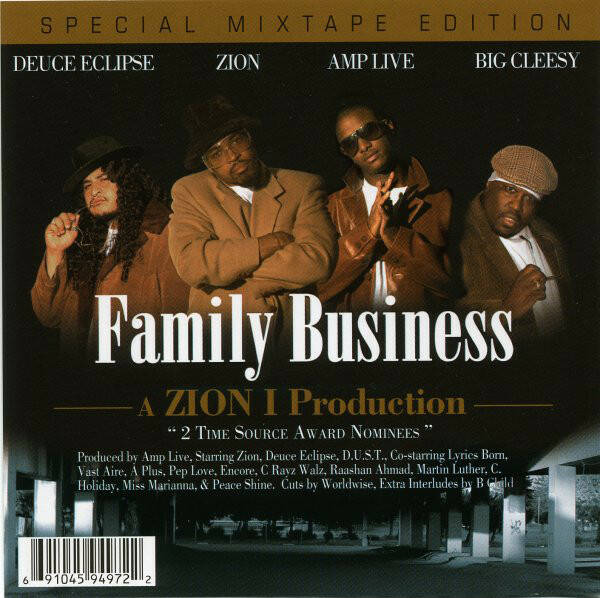 Zion I ‎– Family Business Mixtape CD