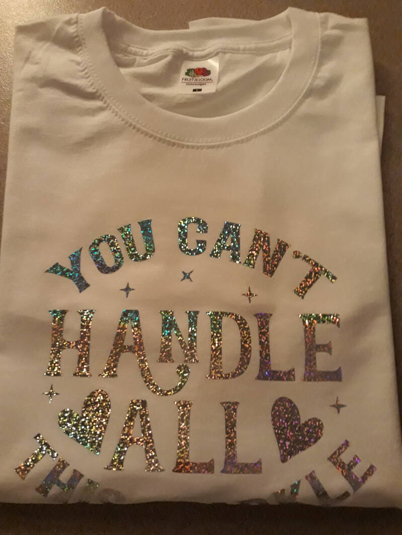 T-shirt you cant handle all this sparkle