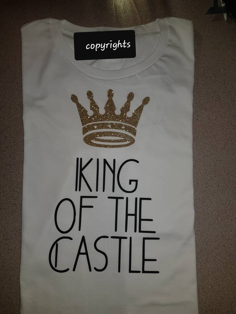 T-shirt gaaf vaderdag cadeau king of the castle