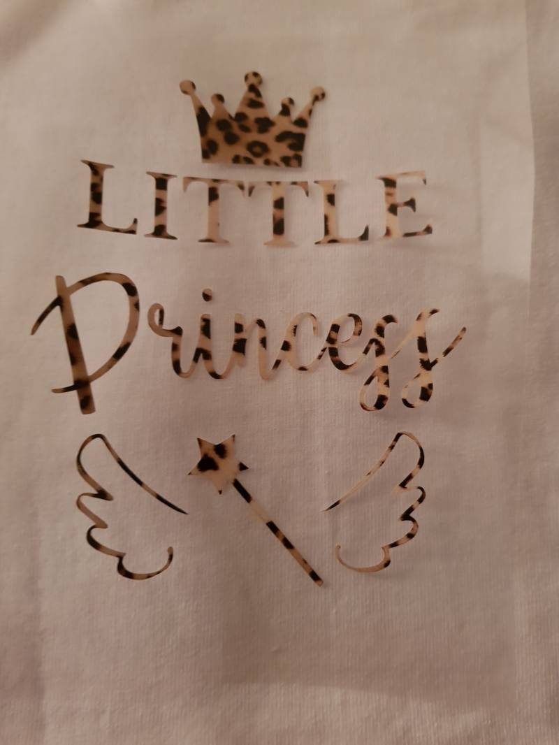 Little prinses  strijk applicatie