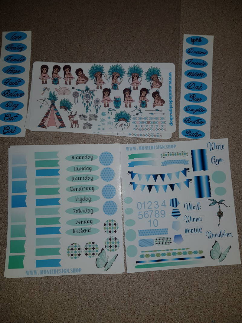 Planner stickers Little Indian gril