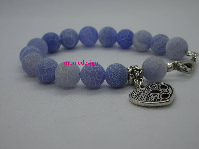 Mooie crackle agaat armband 8mm