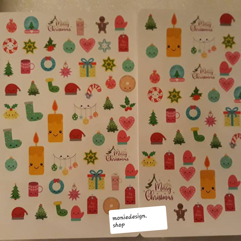 Kawaii kerst stickers