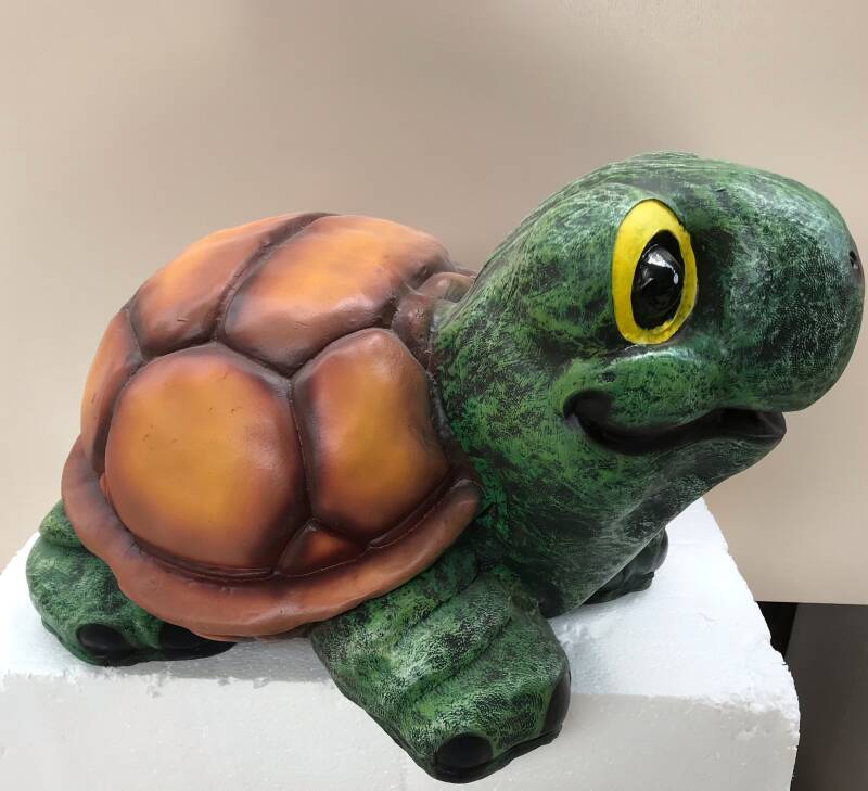 Reptile Funny Humor landschildpad polyester résine 35 cm