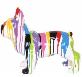DHC64 France bulldog Hond wit of zwart multicolor drop 30 x 50 cm