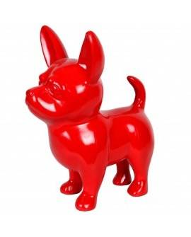 DHC60 Hond chiwawa rood polyester résine 60 cm