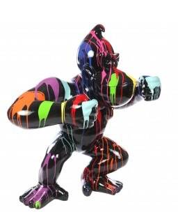 DAP110 Gorilla jungle aap King Kong Zwart multicolore drop  120 cm