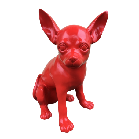 DHC87 Chiwawa hond zit rood polyester résine 40 cm