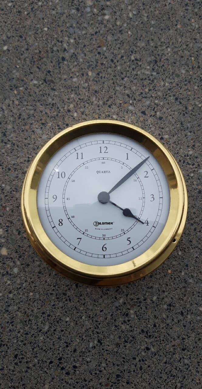 THERMOMETER / HYGROMETER IN MESSING 125 MM