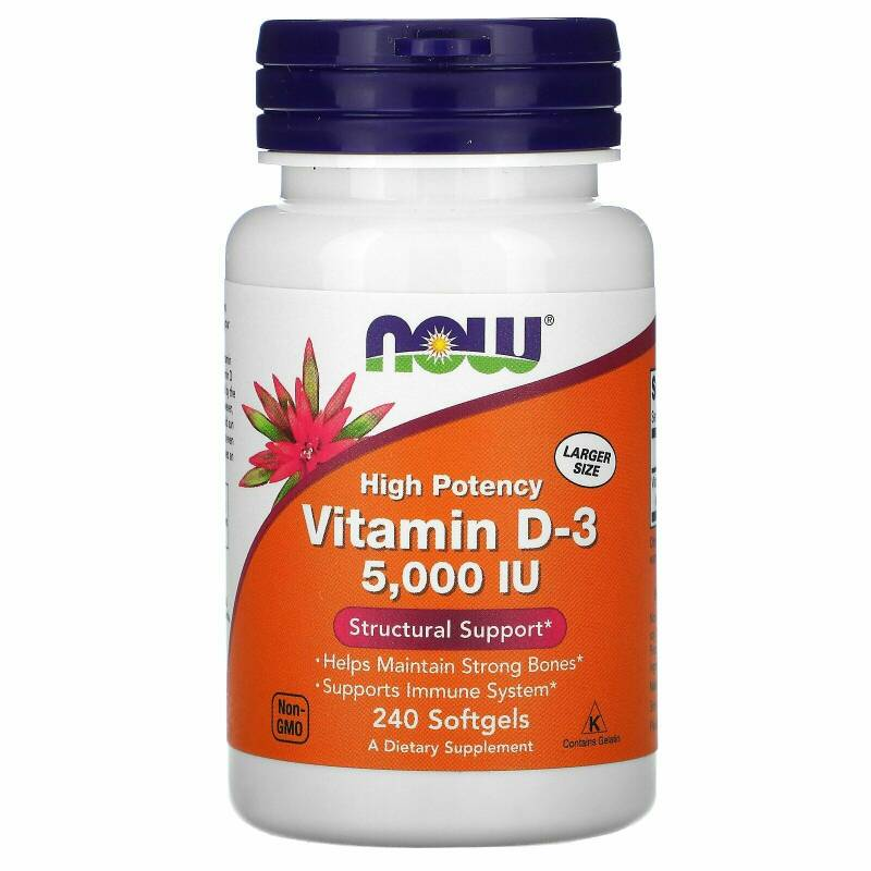 Now Foods Vitamines D3 5000IU 240 softgels