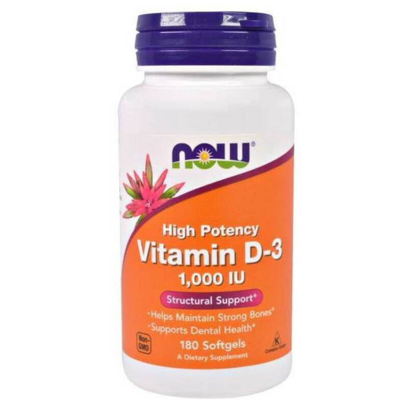 Now Foods Vitamines D3 1000 IU 360 softgels