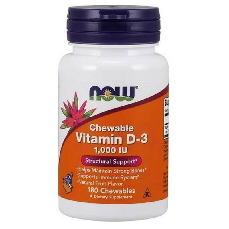 Now Foods Vitamines D3 1000 IU 180 Chewables
