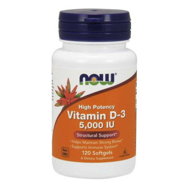 NOW FOODS Vitamines D3 5000 IU 120 softgels