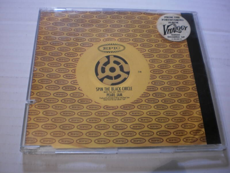 CD Single Pearl Jam - spin the black circle