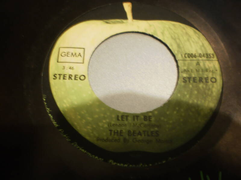 Single The Beatles - Let it be