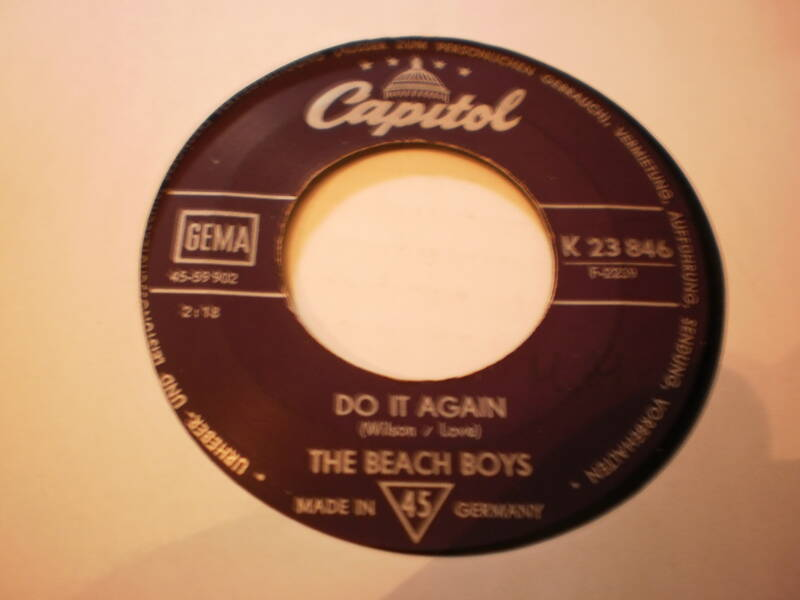 Single The Beach Boys - Do it again / Wake the world