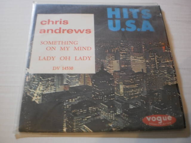 Single Chris Andrews - Something on my mind