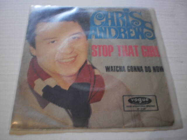 Single Chris Andrews - Stop that girl