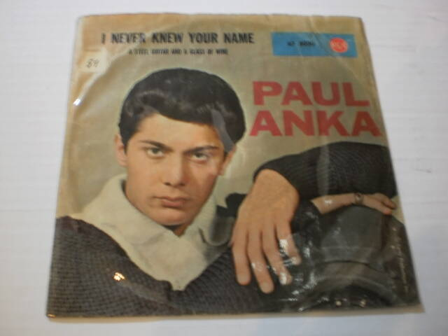 Single Paul Anka - I never knew your name / A steel guitar and a glass of wine