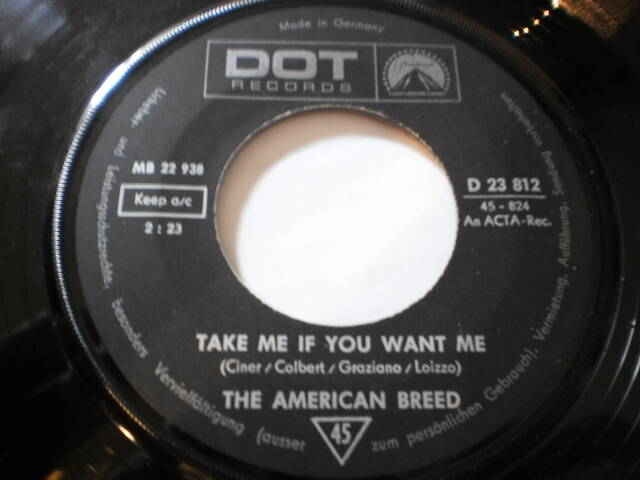 Single The American Breed - Take me if you want me
