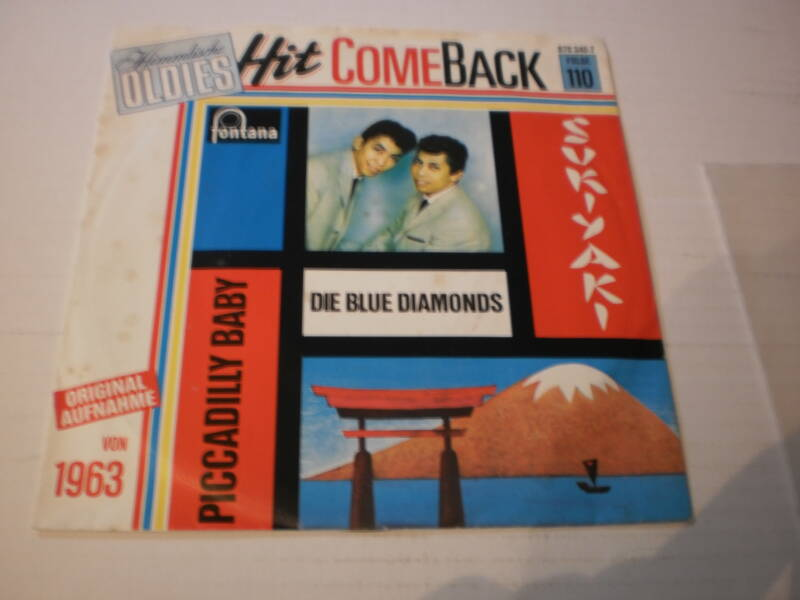 Single The Blue Diamonds - Sukiyaki / piccadilly baby