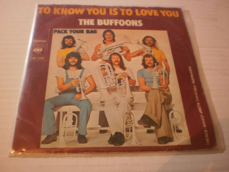 Single The Buffoons - To know you is to love you