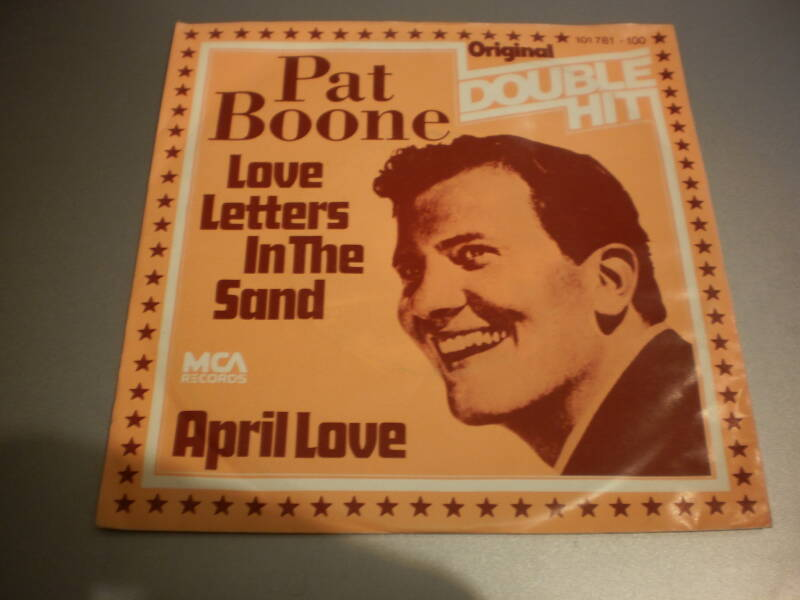 single Pat Boone - Love letters in the sand