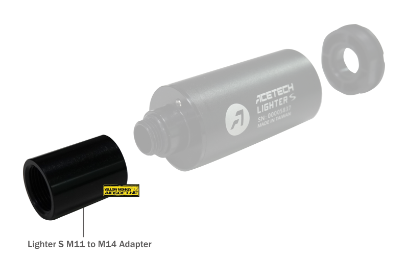 acetech Lighter S Tracer Adapter for 11mm versie