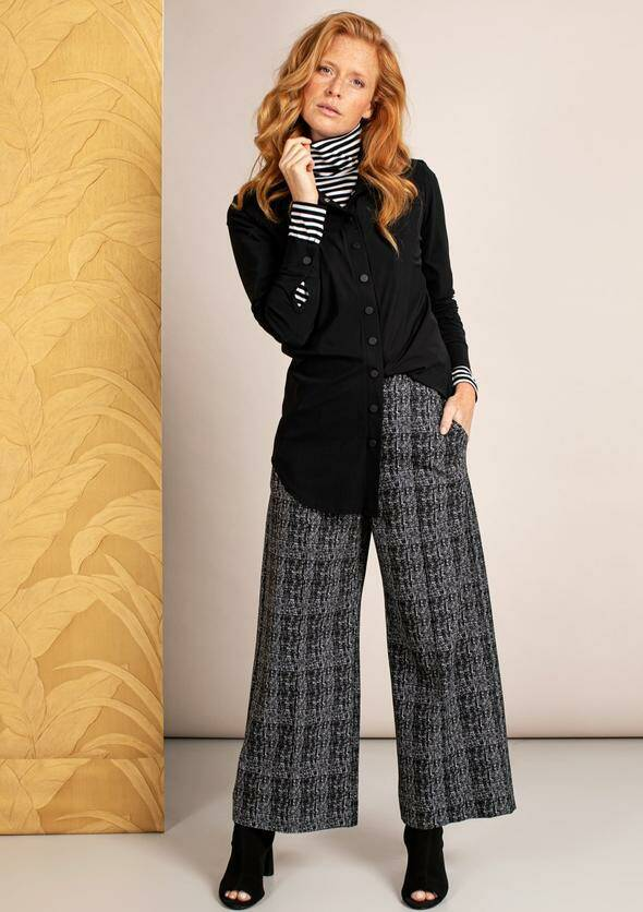 Charlotte check trousers