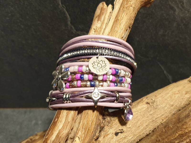 "Armband set ""summer glow"" paars"