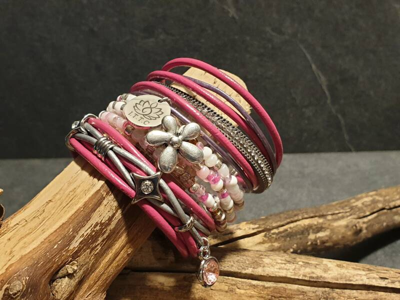 "Armband set ""summer glow"" rose"