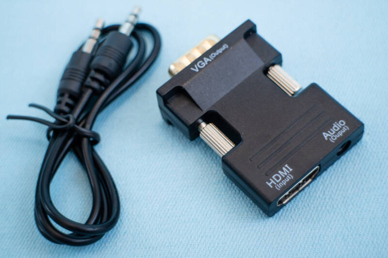 HDMI - VGA adapter | HDMI 1.3 | 1080p | Audio splitter | 3.5 mm jack output