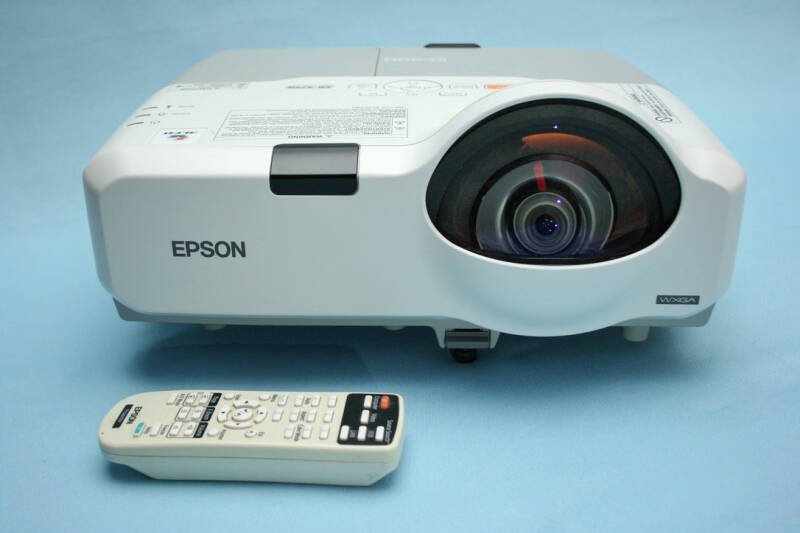 Epson EB-425W short throw HD HDMI beamer 2500 Lumen + 2x nieuwe lamp