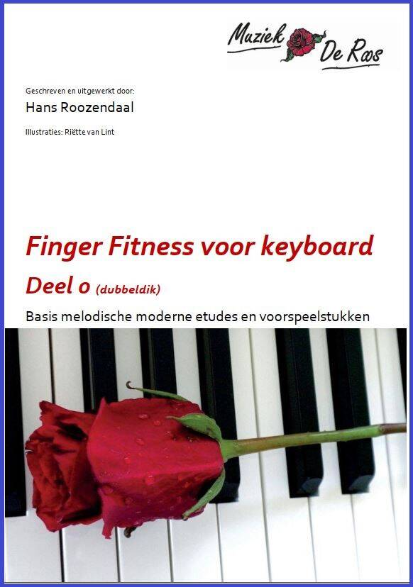 Speelboek keyboard Finger Fitness 0 (DUBBELDIK: 36 nummers)