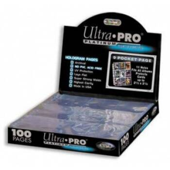 Binder Pages - Ultra Pro Platinum (9 pocket)