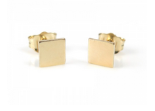 The perfect square ear studs