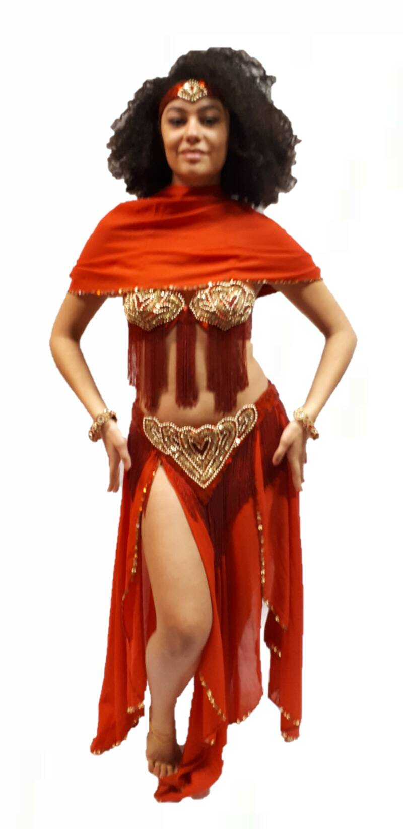 Red Belly Dance costume