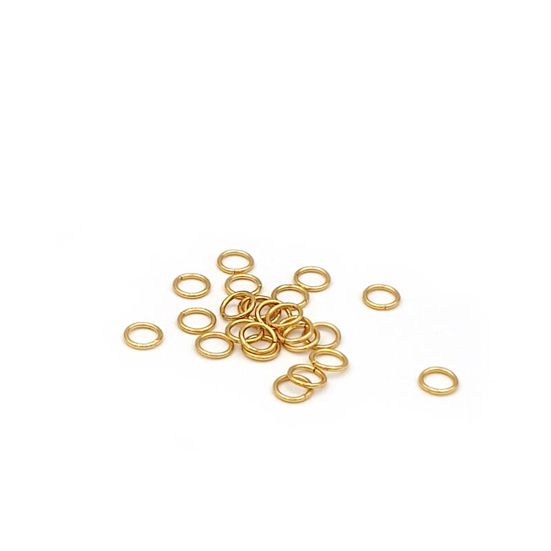 Jump ring 50pcs Stainless steel gold plated 5mm