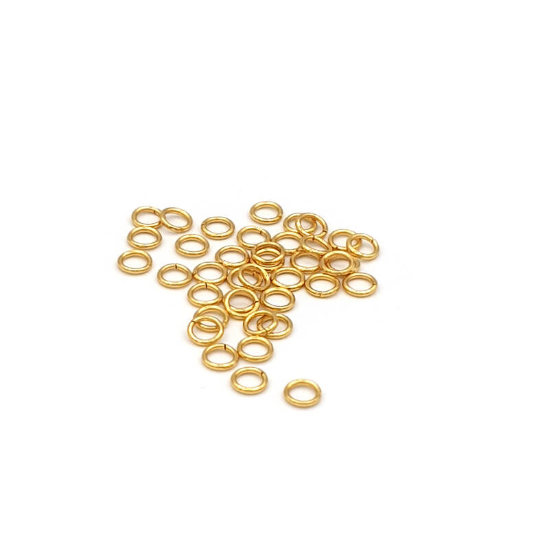 Jump ring 50pcs Stainless steel gold plated 4mm