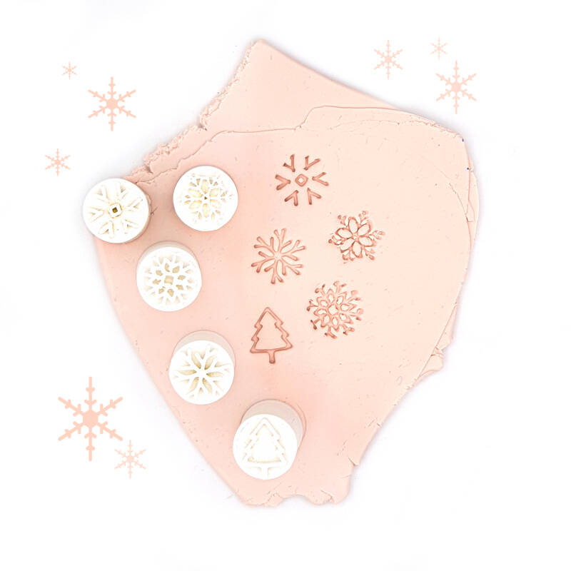 5 Little Christmas Stamps (11mm)