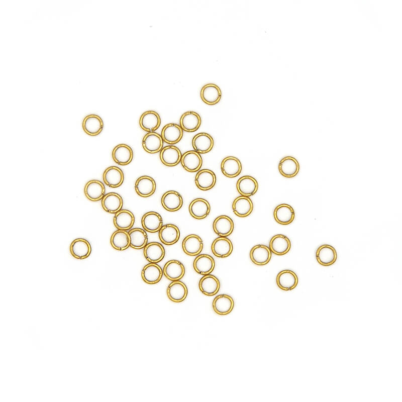 Jump ring 50pcs Stainless steel gold plated 6mm