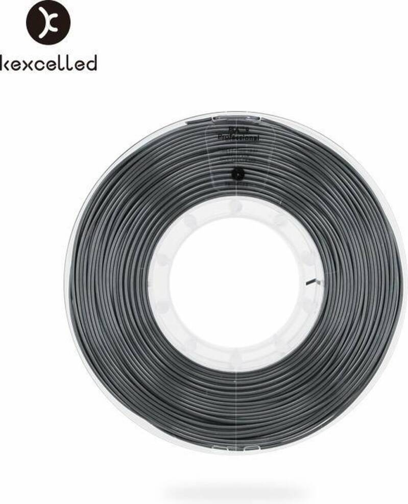 Kexcelled PLA Silk 9 - Zwart - 500g spool 1,75mm