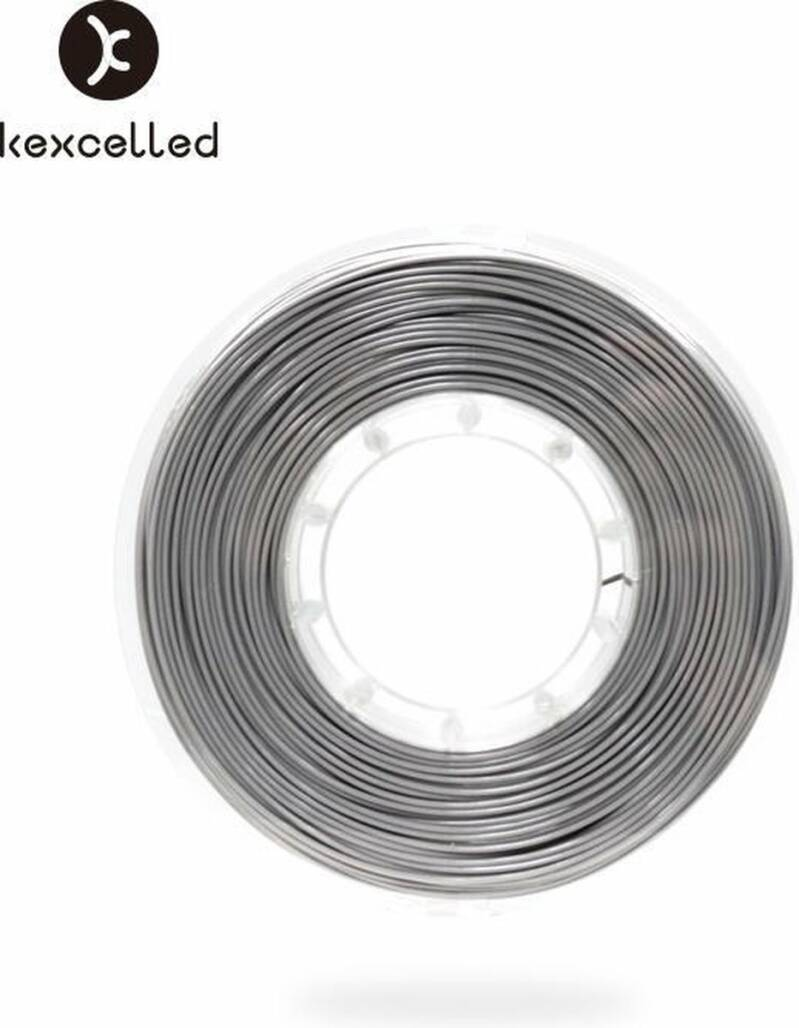 Kexcelled PLA Silk 9 - Zilver - 500g spool 1,75mm