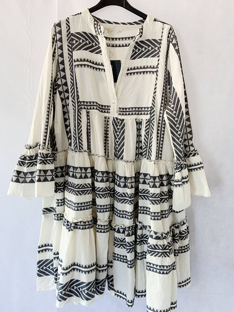 Aztec dress - black