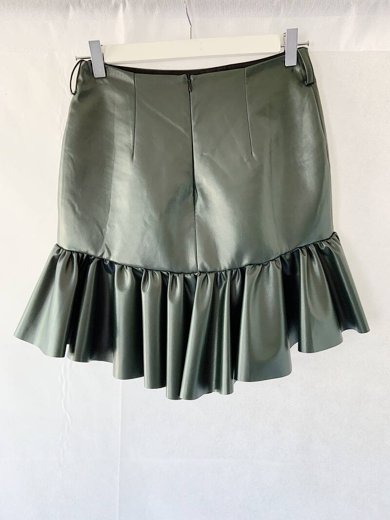 Faux leather skirt by Burcin